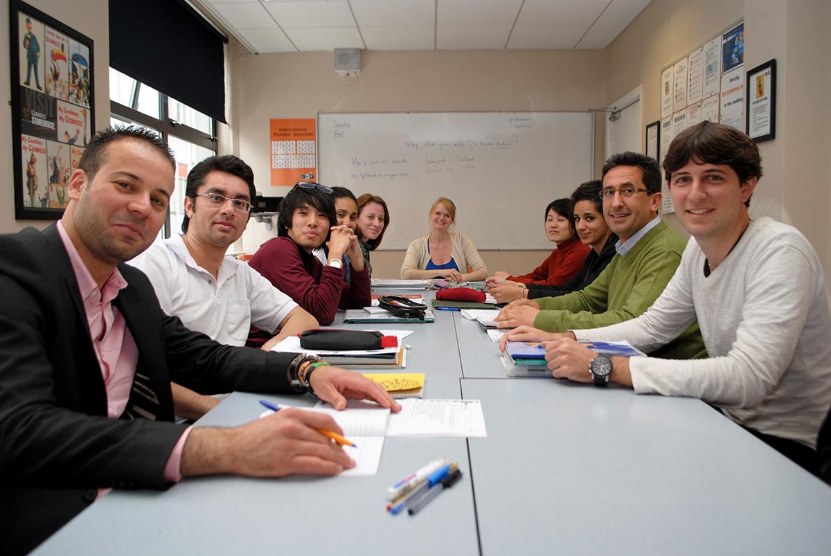 Clases en el curso de inglés en Dublín, Irlanda
