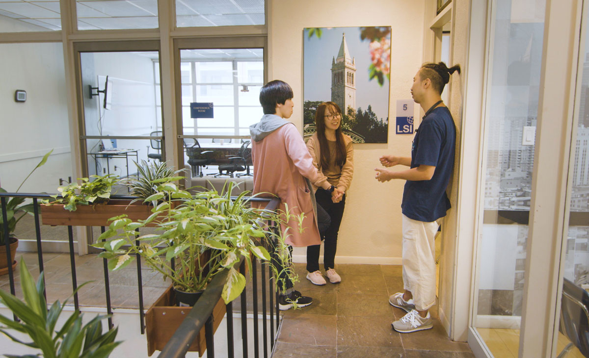 Estudiantes en la escuela de Berkeley, San Francisco