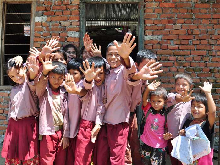 Enseñar a niños/as en la India