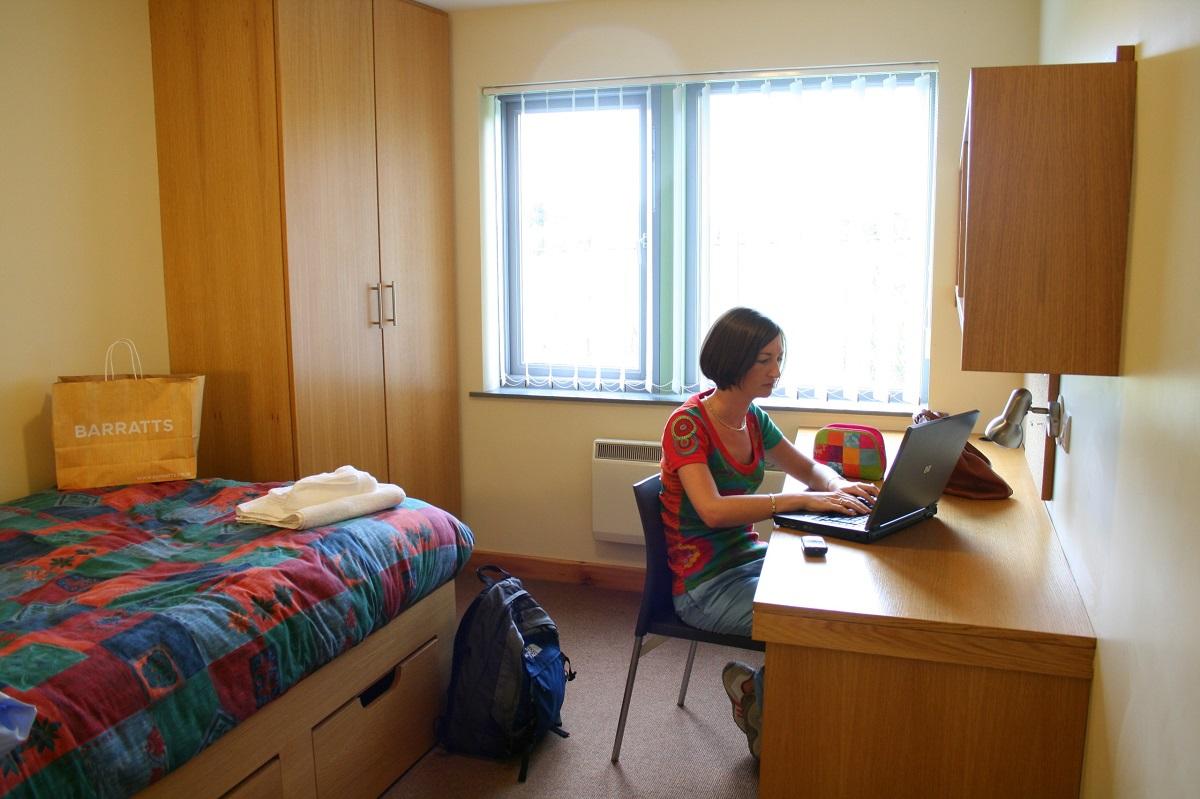 Habitación para estudiar inglés en Irlanda