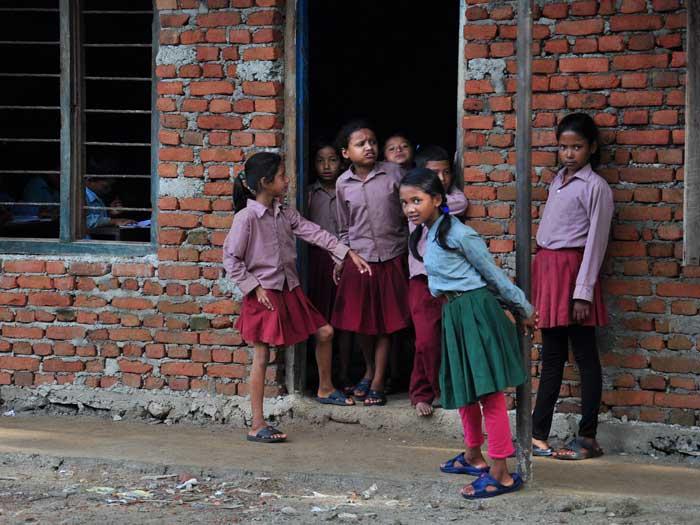 Escuela y educación proyecto en la India