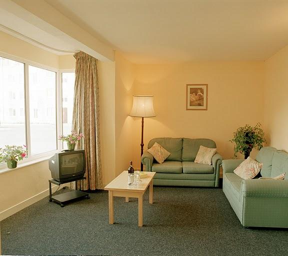 Sala de estar en el apartamento de Cork
