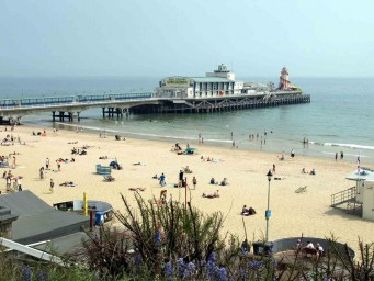 Las playas de Bournemouth