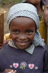 Sonriendo en Kenia